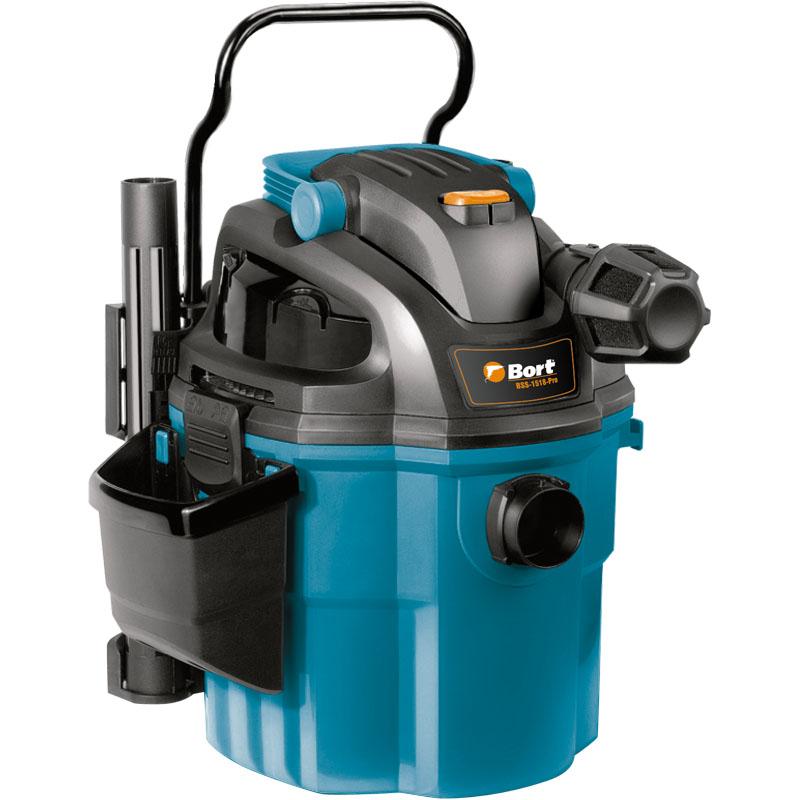 Пылесос для сухой и влажной уборки Bort BSS-1518-ProBSS-1518-ProЭто модель эконом класса, которая сочетает высокие технические характеристики и эргономичность, она оснащена большим количеством полезных функций, вместительным контейнером для сбора пыли, а самое главное – обеспечивает хорошее всасывание пыли.