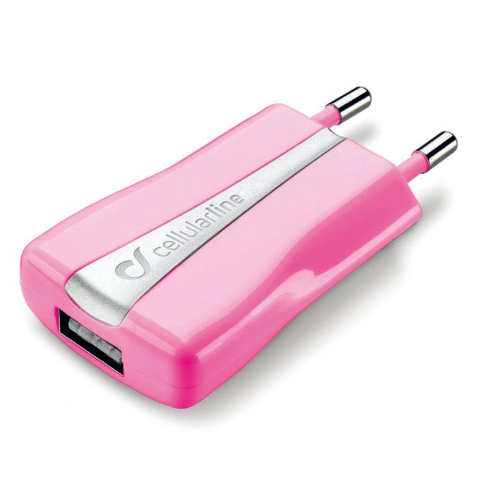 Cellular Line Compact USB Charger зарядное устройство, Pink (20547)