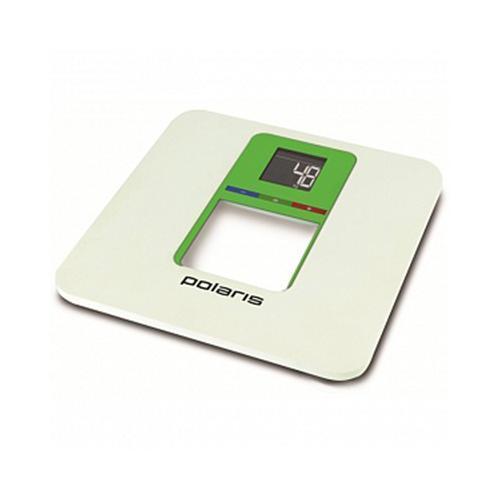 Polaris PWS 1833D Smart Colors, White Green напольные весыPWS 1833D Smart ColorsВесы напольные Polaris PWS 1833DF Smart Colors имеют элегантный дизайн с платформой из сверхпрочного пластика на прорезиненных ножках, которые предотвращают скольжение. Весы POLARIS с точностью отображают вес. Максимальная нагрузка составляет 180 кг. Эта современная модель оснащена системой Smart-Colors, позволяющей визуально отображать результаты взвешивания на большом ЖК-дисплее с подсветкой.Весы напольные Polaris PWS 1833DF Smart Colors имеют встроенную память на 4 пользователя, поэтому каждый член семьи может следить за своим весом и динамикой его изменения. Прибор интуитивно распознает каждого пользователя. Особенностью весов является сенсорная система для максимально точного измерения веса. О том, что батарейки разрядились, вас оповестит специальный индикатор.
