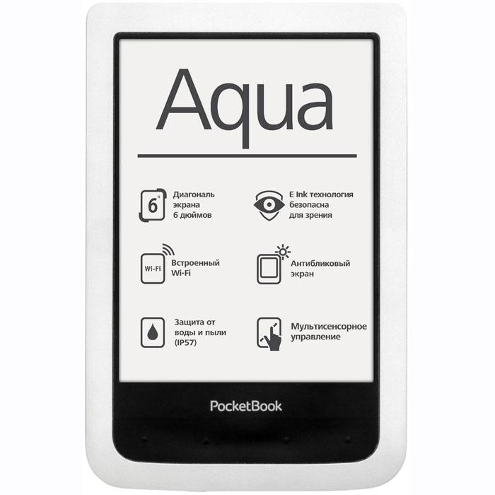 PocketBook 640, White электронная книгаPB640-D-RUВодонепроницаемый PocketBook 640 открывает ряд новых возможностей. Ридер устойчив к любым погодным условиям, а также не боится песка и пыли. Любители отдыхать активно смогут взять PocketBook 640 с собой в самое экстремальное путешествие, тогда как почитатели спокойного отдыха получат возможность наслаждаться чтением лежа у бассейна, на пляже или принимая расслабляющую ванну, не боясь повредить свой устройство. Мощный процессор с тактовой частотой 1 ГГц и 256 МБ оперативной памяти обеспечивают плавное перелистывание и быстрый отклик любого приложения. PocketBook 640 оснащается 6-дюймовым E Ink Pearl дисплеем и 4 ГБ встроенной памяти. E Ink дисплей не бликует на солнце, поэтому читать любимые книги на PocketBook 640 можно даже в самый солнечный день. Экран новой модели оснащен сенсорной панелью на основе технологии Film Touch, благодаря чему новый защищенный от воды и пыли ридер весит всего 170 г. Доступ в Internet с использованием встроенного модуля...