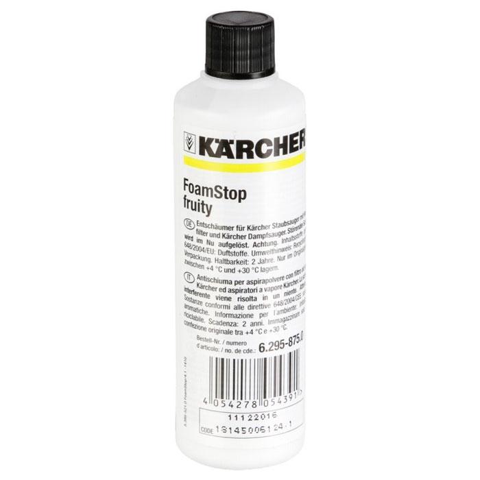 Пеногаситель Karcher Fructasia, 125 мл6.295-875.0Пеногаситель Karcher Fructasia применяется для пылесосов с водяными фильтрами и с паровыми пылесосами, во время работы которых в емкости с водой образуется слишком много пены. Использование данного средства защищает и увеличивает срок службы промежуточного фильтра. Состав: ароматизаторы.