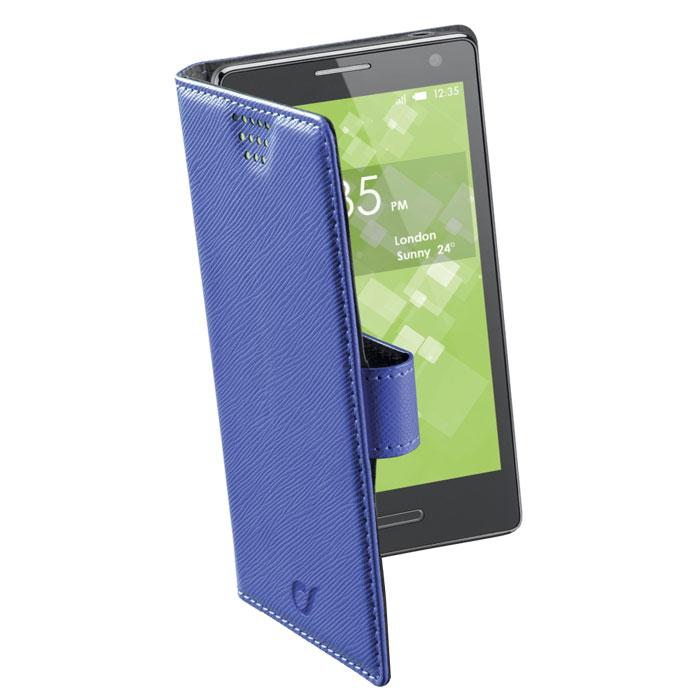 Cellular Line Book Universal XL универсальный чехол для телефонов, Blue (21448)BOOKUNI1LBЧехол Cellular Line Book Universal 4XL предназначен для защиты корпуса смартфона от механических повреждений и царапин в процессе эксплуатации. Благодаря клейкой силиконовой основе, которая не оставляет следов на корпусе устройств, чехол подходит для различных моделей телефонов. Встроенная поворотная система позволяет делать фотоснимки и снимать видео одним простым движением. Чехол доступен в четырех цветовых оттенках. Чехол подходит для: Alcatel One Touch Pop C3, One Touch Star 6010D Apple iPphone 5, iPhone 5c, iPhone 5s Blackberry Bold 9780, Bold 9900, Curve 8520, Q5, Torch 9810 HTC 8S, Desire HD, Dream, EVO 3D, HD 7, Incredible 2, Nexus One, One S, One SV, S620, Sensation, Sensation XE Huawei Ascend Y300, Ascend Y330 LG G2 Mini, Optimus 7 E900, Optimus Black P970, Optimus Dual P990, Optimus L4 II E440, Optimus L5 E610, Optimus L5 II E460, Optimus L7 II P710 Motorolla Atrix, Atrix 2 MB865, Milestone, Moto G, Moto X XT1058 Nokia...