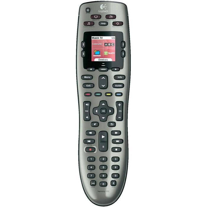 Logitech Harmony 650 (915-000161) пульт ДУ915-000161Logitech Harmony 650 (915-000161) - универсальный пульт, который поддерживает более 5000 торговых марок и 225000 устройств. Сделайте первый шаг по пути упрощения своей домашней мультимедийной системы. Цветной экран На дисплее отображается нужная в данный момент информация , например значки ваших любимых каналов или команды управления используемыми устройствами. Более того, при необходимости на экран выводится справка по используемым функциям. Кнопки часто выполняемых действий Больше не нужно запоминать сложные последовательности включения устройств и кнопок, которые нужно нажать. После настройки вам достаточно выбрать, какое действие выполнить (например «Просмотр DVD»), а пульт Harmony сделает все остальное. Пошаговая интернет-настройка Вы подключаете пульт ДУ к компьютеру и сообщаете список устройств, которыми пульт должен управлять. Затем можно откинуться на спинку стула — наше интерактивное программное обеспечение...