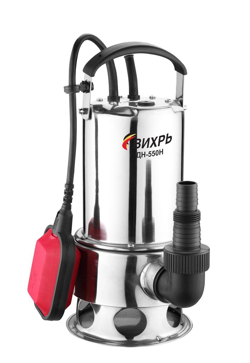 Дренажный насос Вихрь ДН-550Н68/2/4Дренажный насос Вихрь ДН-550Н предназначен для перекачки чистых, дождевых, дренажных и грунтовых вод. Насос может использоваться для орошения или подачи воды из колодцев, открытых водоемов и других источников. Корпус устройства выполнен из прочного нержавеющего металла. Поплавковый выключатель Встроенный датчик для автоматического отключения питания при перегреве двигателя Максимальное количество включений в час: 20 Максимальная высота подъема: 8 м Диаметр пропускаемых частиц: 35 мм Напряжение: 220 В Частота: 50 Гц Потребляемый ток: 3,6 А Тип электродвигателя: асинхронный, однофазный с короткозамкнутым ротором.