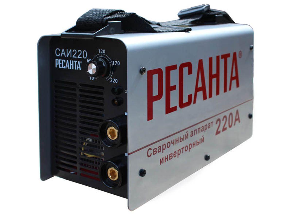 Сварочный аппарат Ресанта САИ 220САИ 220Принцип работы сварочного аппарата заключается в преобразовании переменного напряжения сети частотой 50Гц в постоянное напряжение величиной в 400В, которое преобразуется в высокочастотное модулированное напряжение и выпрямляется. Для регулирования сварочного тока используется широтно-импульсная модуляция. Устройство САИ 220. Изделие выполнено в металлическом корпусе, на передней панели которого расположено: - Регулятор величины сварочного тока. С помощью регулятора сварочного тока можно выставить нужный ток в зависимости от толщины сварного электрода. - Силовые разъемы для подключения сварочных кабелей. - Индикаторы сеть. Индикатор сеть загорается при включении прибора. - Индикатор перегрев. Индикатор перегрев загорается на несколько секунд при включении САИ и при перегреве прибора и выключается после его охлаждения до рабочей температуры. - Аппарат Ресанта оснащен автоматом вместо обычного выключателя. Он позволяет работать в сетях со слабой...