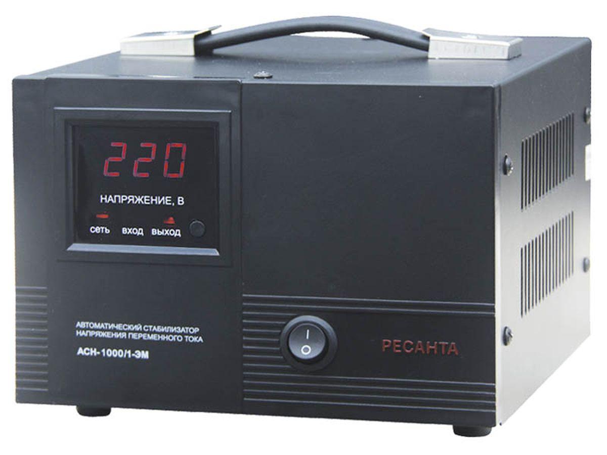 Стабилизатор напряжения Ресанта АСН-1 000/1-ЭМАСН-1 000/1-ЭМОчень удобен в использовании для питания компьютера, телевизора и любой другой бытовой техники, суммарная мощность которой не превышает 1 кВА. Стабилизатор Ресанта - надежен в защите и прост в эксплуатации.