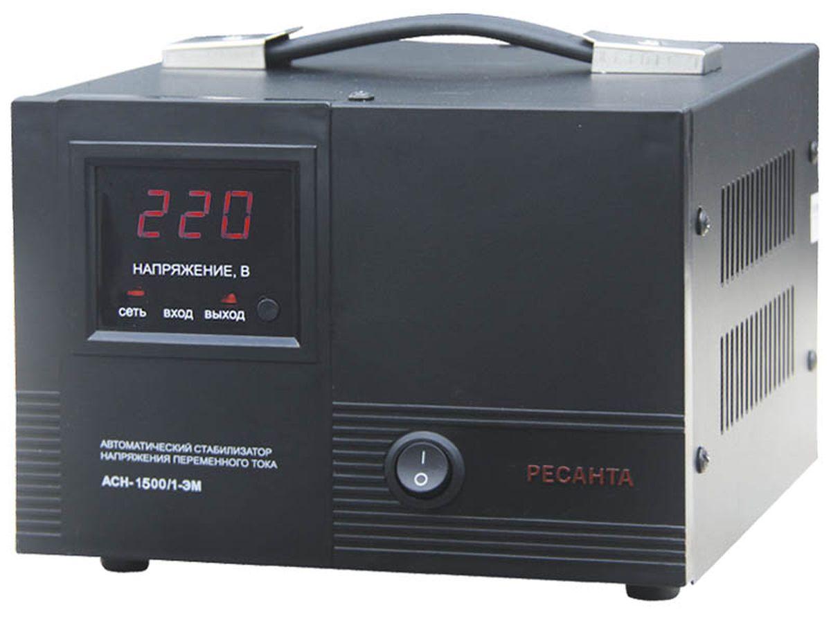 Стабилизатор напряжения Ресанта АСН-1 500/1-ЭМАСН-1 500/1-ЭМОчень удобен в использовании для питания компьютера, телевизора и любой другой бытовой техники, суммарная мощность которой не превышает 1 кВА. Стабилизатор Ресанта - надежен в защите и прост в эксплуатации.
