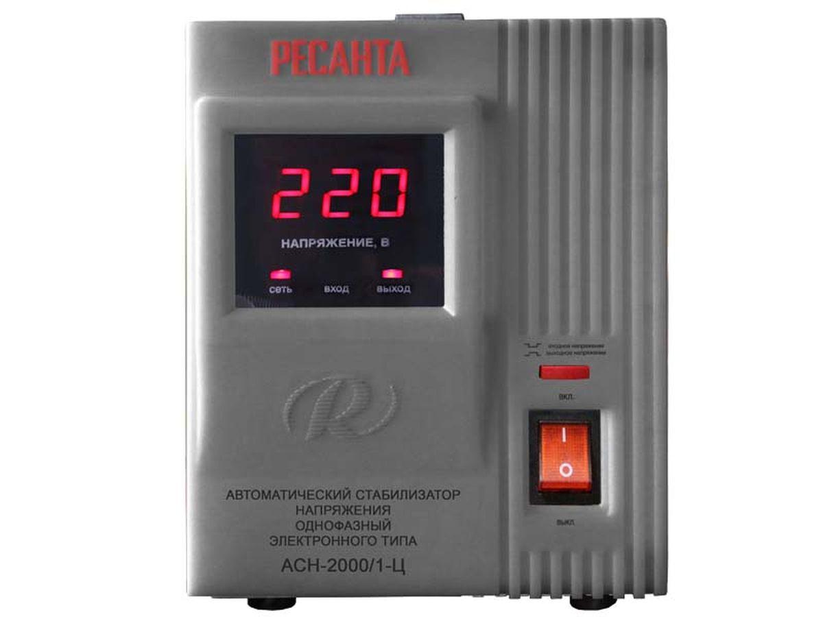 Стабилизатор напряжения Ресанта АСН-2000/1-ЦАсн-2000 н/1-цСтабилизатор напряжения Ресанта АСН-2000/1-Ц предназначен для обеспечения качественного электропитания и долгой работы различных бытовых устройств в условиях нестабильного напряжения в сети. Данный стабилизатор может обеспечивать стабильным питанием, таких потребителей как: морозильные камеры, кофеварочная машина, домашний кинотеатр, сервер. Характеристики: Диапазон входного напряжения, В: 140-260 Номинальная величина выходного напряжения, В: 220±8% Номинальная мощность при Uвх?190 В (кВт): 2 КПД, при нагрузке 80% не менее: 97 Точность поддержания выходного напряжения (%): 8 Класс защиты: IP 20 (негерметизирован).