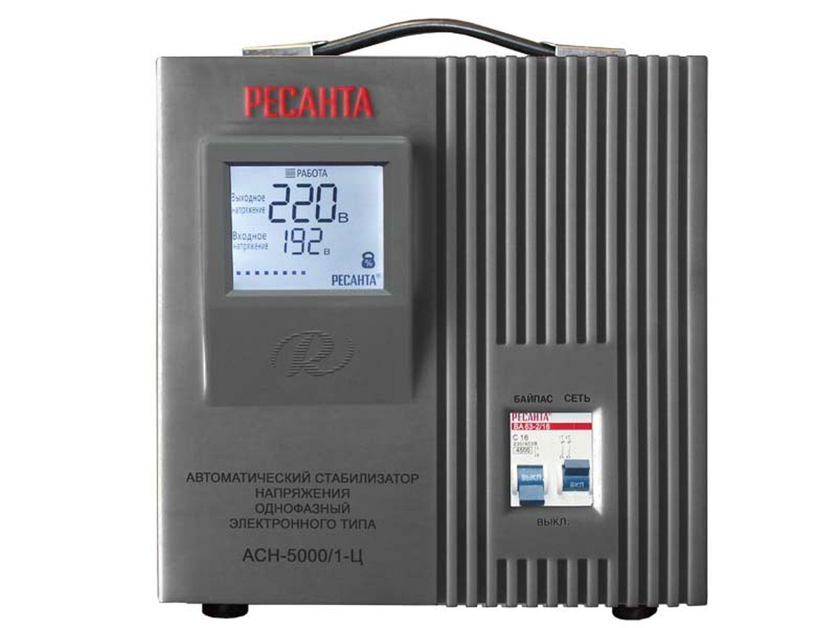 Стабилизатор напряжения Ресанта АСН-5000/1-ЦАСН-5000/1-ЦСтабильное напряжение для Ваших электроприборов! Стабилизаторы напряжения, выпускаемые фирмой «Ресанта», предназначены для автоматического поддержания в электрической сети заданного напряжения (220/380 В). Функционально обеспечивают: полную защиту электроприборов и электрооборудования бытового и промышленного назначения от внезапного изменения напряжения электросети; стабильное электропитание оборудования в условиях продолжительного по времени заниженного или завышенного напряжения электросети; возможность безотказной и правильной работы электрообо& рудования в условиях нестабильного напряжения электросети; непрерывный контроль напряжения на входе и выходе; фильтрацию сетевых помех и отсутствие искажений; автоматическое поддержание выходного напряжения с высокой точностью. В зависимости от используемой сети питания и подключаемой нагрузки стабилизаторы напряжения подразделяются на однофазные и трехфазные, в зависимости от принципа действия – на электромеханические и...