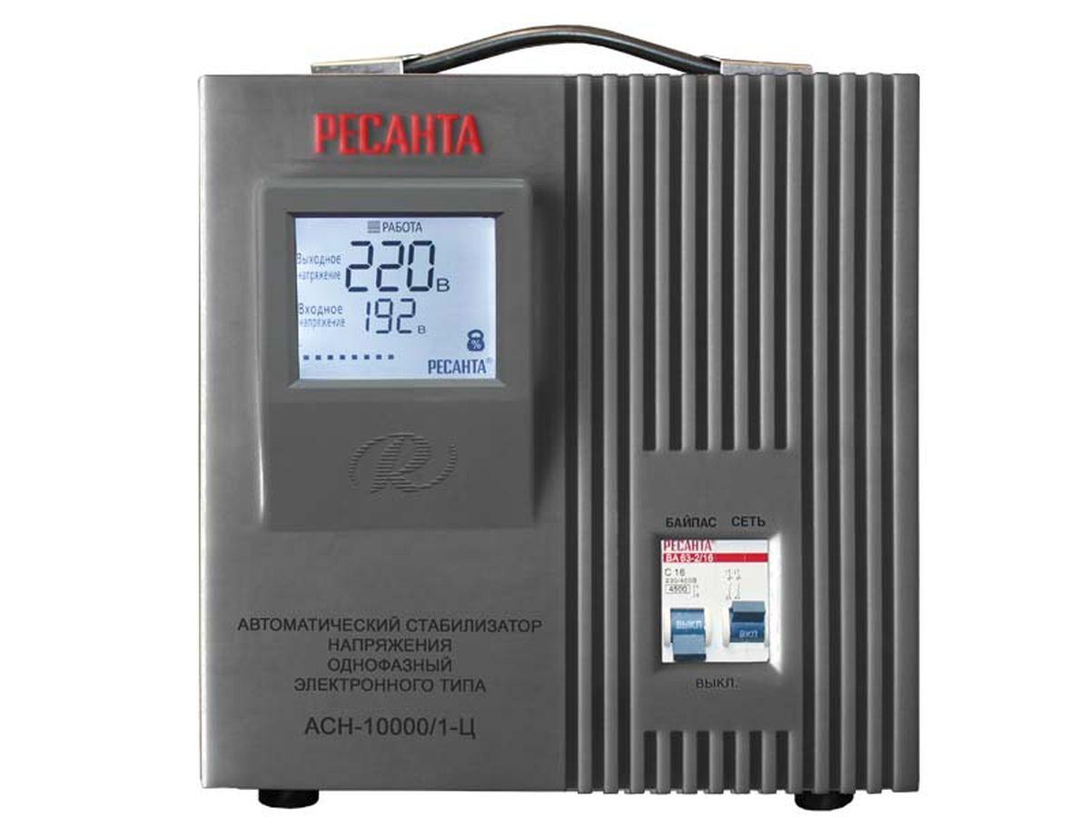 Стабилизатор напряжения Ресанта АСН-10 000/1-ЦАСН-10 000/1-ЦСтабильное напряжение для Ваших электроприборов! Стабилизаторы напряжения, выпускаемые фирмой «Ресанта», предназначены для автоматического поддержания в электрической сети заданного напряжения (220/380 В). Функционально обеспечивают: полную защиту электроприборов и электрооборудования бытового и промышленного назначения от внезапного изменения напряжения электросети; стабильное электропитание оборудования в условиях продолжительного по времени заниженного или завышенного напряжения электросети; возможность безотказной и правильной работы электрообо& рудования в условиях нестабильного напряжения электросети; непрерывный контроль напряжения на входе и выходе; фильтрацию сетевых помех и отсутствие искажений; автоматическое поддержание выходного напряжения с высокой точностью. В зависимости от используемой сети питания и подключаемой нагрузки стабилизаторы напряжения подразделяются на однофазные и трехфазные, в зависимости от принципа действия – на электромеханические и...