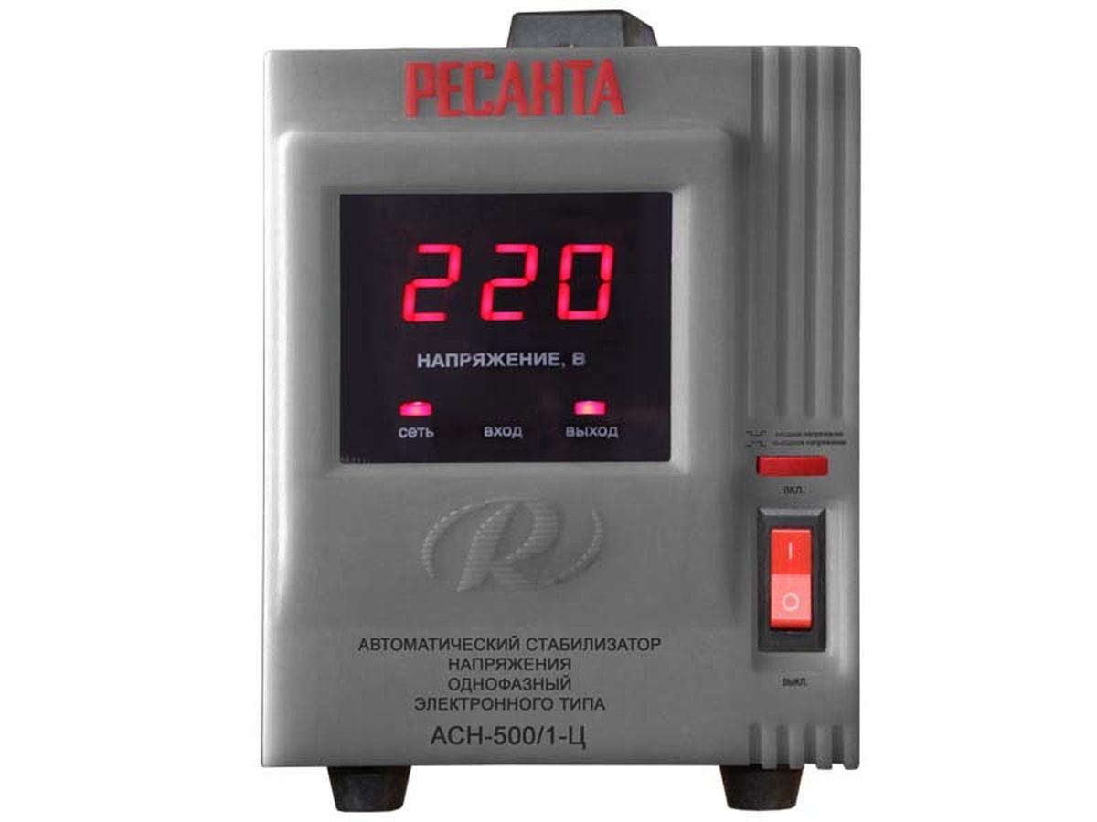 Стабилизатор напряжения Ресанта АСН-500 Н/1-Ц ( Асн-500 н/1-ц )