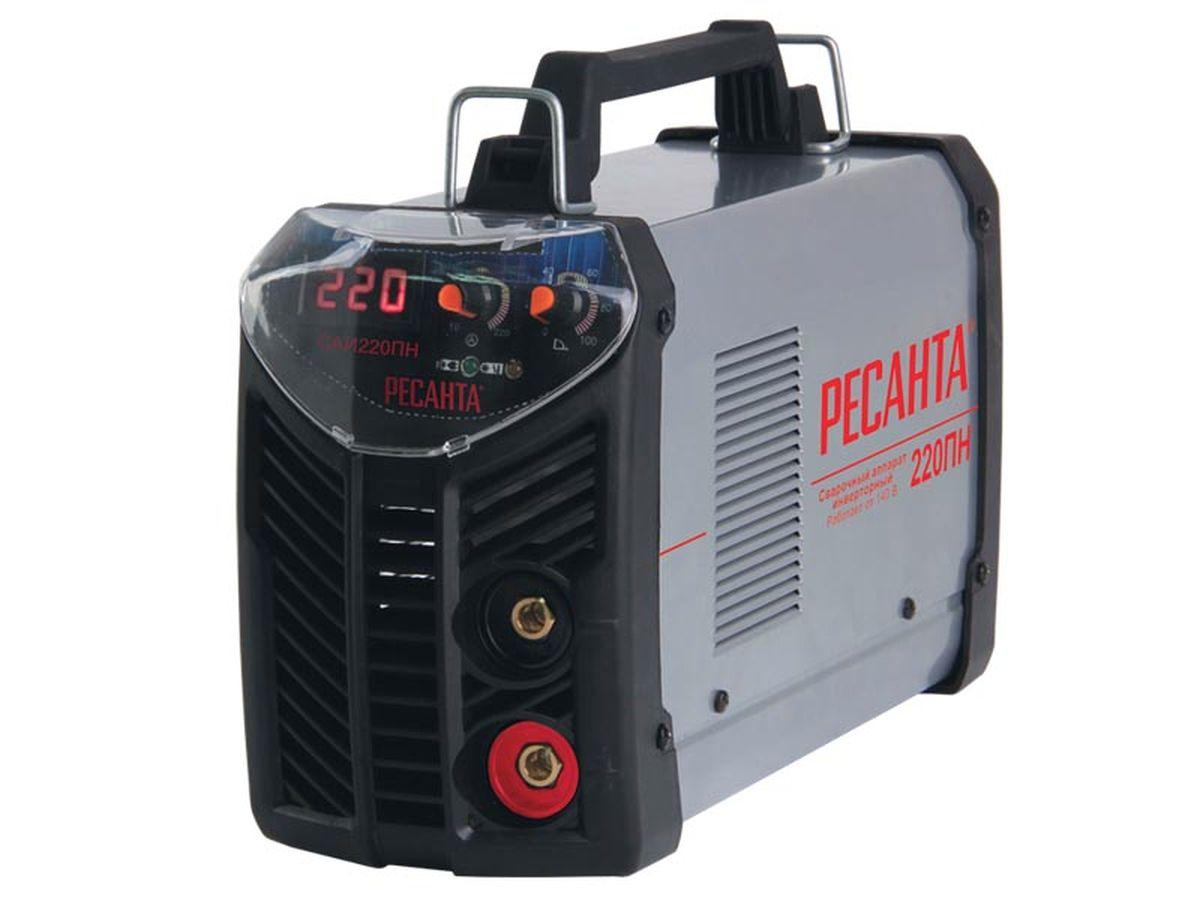 Сварочный аппарат Ресанта САИ 220ПНСАИ-220ПНСварочный аппарат инверторный Ресанта САИ 220ПН предназначен для ручной электродуговой сварки постоянным током покрытым электродом. Компактность изделия, а также небольшой вес аппарата позволяют сварщику перемещаться по всей площади производимых работ. Аппарат оснащен принудительной системой вентиляции, ввиду этого, категорически запрещается закрывать чем-либо вентиляционные отверстия в корпусе. Принцип работы сварочного аппарата заключается в преобразовании переменного напряжения сети частотой 50Гц в постоянное напряжение величиной в 400В, которое преобразуется в высокочастотное модулированное напряжение и выпрямляется. Для регулирования сварочного тока используется широтно-импульсная модуляция высокочастотного напряжения. Аппарат имеет защиту от перегрева - в случае срабатывания защиты (загорится лампочка на передней панели) следует убедиться в отсутствии замыкания рабочих кабелей и остановить работу, не отключая аппарат, не менее чем на 5 минут. Аппарат оснащен...