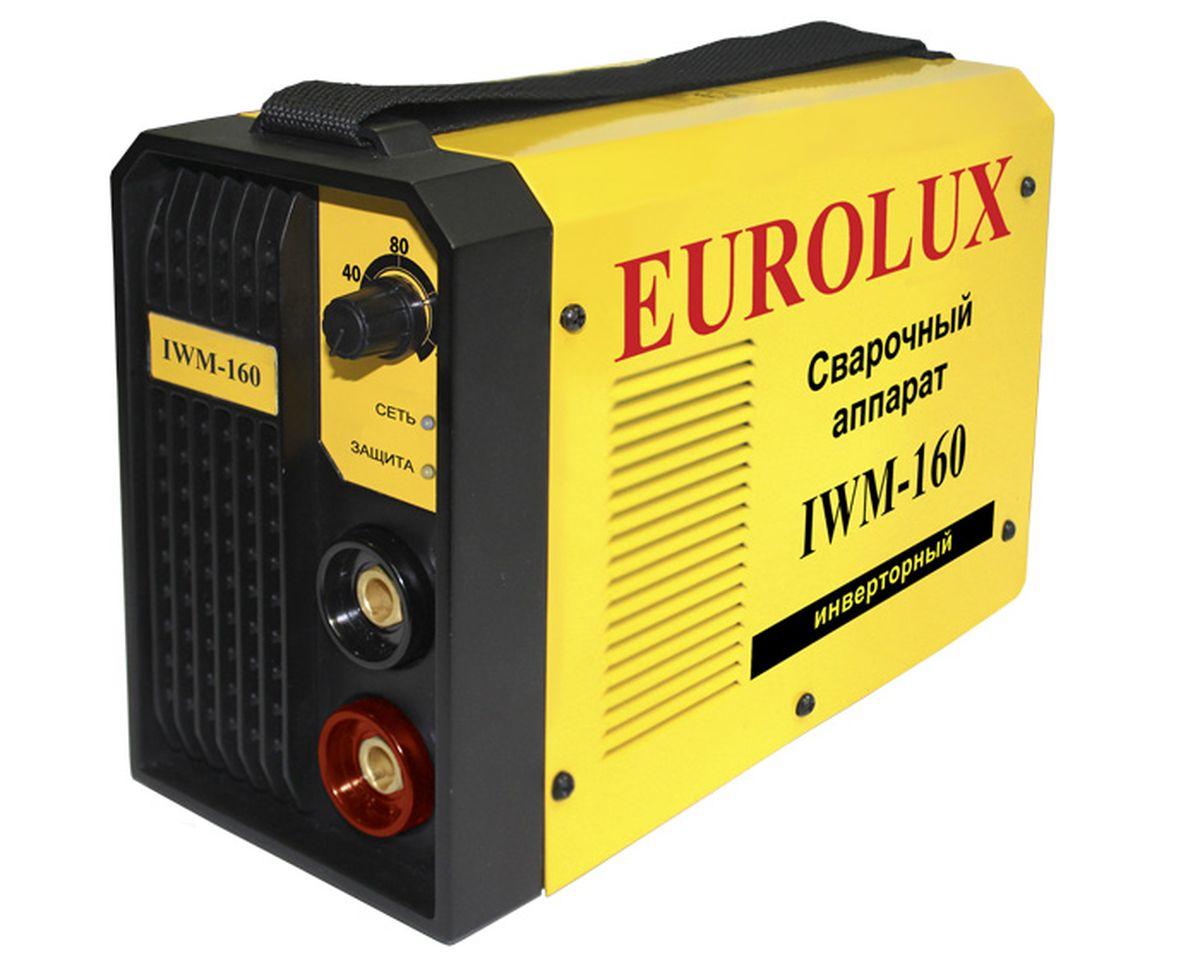 Инверторный сварочный аппарат Eurolux IWM-16065/26.Инверторный сварочный аппарат постоянного тока Eurolux IWM 160 предназначен для использования в бытовых условиях, садовых и гаражных мастерских. Это простой и удобный в эксплуатации агрегат, который служит для соединения различных металлических заготовок методом ручной дуговой сварки. Аппарат используется со всеми типами электродов ММА. В сварочном аппарате используется инверторная технология IGBT, которая позволяет достичь малого веса и размера, высоких показателей цикла и качества работы. Прочный корпус надежно защищает все внутренние узлы агрегата от попадания пыли и влаги, а также от механических повреждений. Инвертор используется при проведении монтажных, ремонтных и строительных работ. Технические характеристики: - Вид сварки: ручная дуговая (ММА); - Ток сварки: постоянный; - Входное напряжение: 220B; - Периодичность включения: 70 % (при 160 А); - Минимальный диаметр электрода: 1,6 мм; -...