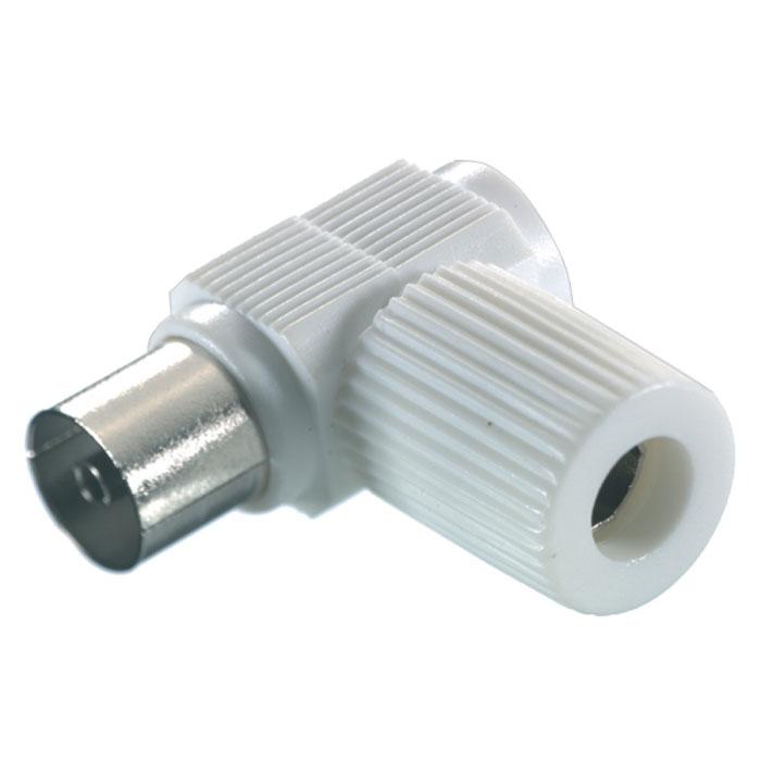 Vivanco антенный штекер угловой коаксиальный (гнездо)43009Vivanco антенный штекер угловой коаксиальный предназначен для коаксиального кабеля с диаметром от 4,5 до 7,5 мм.