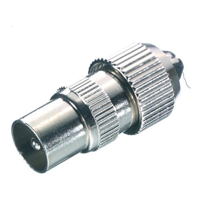 Vivanco антенный штекер коаксиальный (штырь), металл43011Полностью металлический антенный штекер Vivanco подходит для коаксиальных кабелей с диаметром от 4.5 до 7.5 мм.