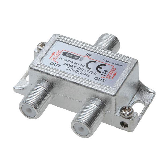 Vivanco STS BV2-NJ антенный разветвитель44185Антенный разветвитель Vivanco STS BV2-NJ с полным экранированием предназначен для разделения антенных сигналов. Диапазон частот: 5 МГц – 2400 МГц Импеданс: 75 Ом