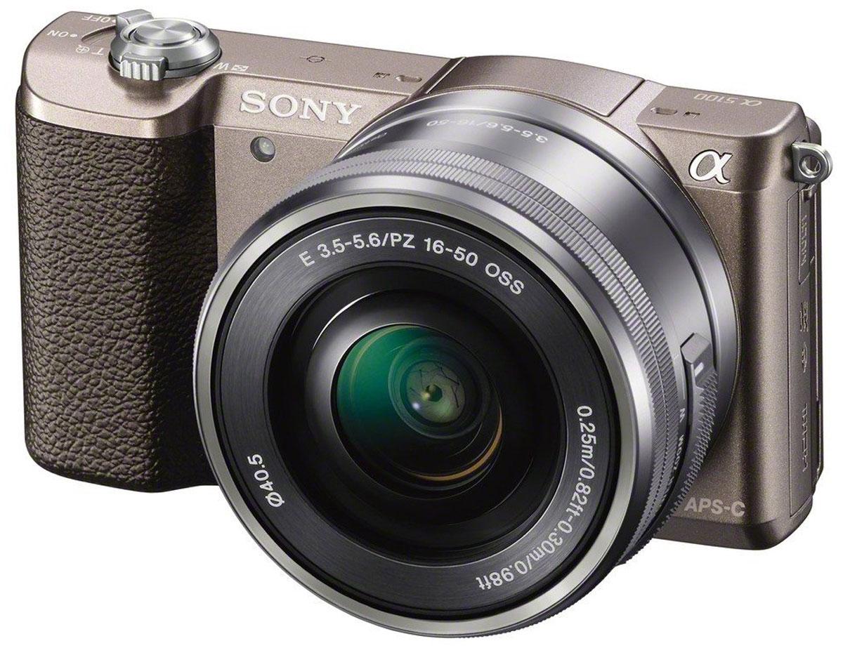 Sony Alpha A5100 Kit 16-50mm E PZ, Bronze цифровая фотокамераILCE5100LT.CECSony Alpha A5100 - цифровая фотокамера со сменной оптикой для профессиональных результатов. Быстрый гибридный автофокус обеспечивает невероятную четкость и контрастность изображений и видео — вы не упустите ни одного кадра. Технология 4D FOCUS обеспечивает непревзойденную работу системы автофокуса в четырех измерениях: широкая зона охвата (2 измерения по горизонтали и вертикали), скорость работы автофокуса (3-е измерение, глубина) и следящий автофокус с упреждением (4-е измерение, время). Эта компактная камера с несколькими режимами автофокуса позволяет всегда получать потрясающие снимки. Следите за движущимися объектами, настраивайте размер кадра и получайте невероятно точную фокусировку. Совершенная матрица Exmor APS-C CMOS и усовершенствованный процессор изображений BIONZ X Размещение интегральных линз без зазоров оптимизирует светосилу и минимальный уровень шума. Улучшенный процессор использует алгоритм понижения шума для фотографий при...