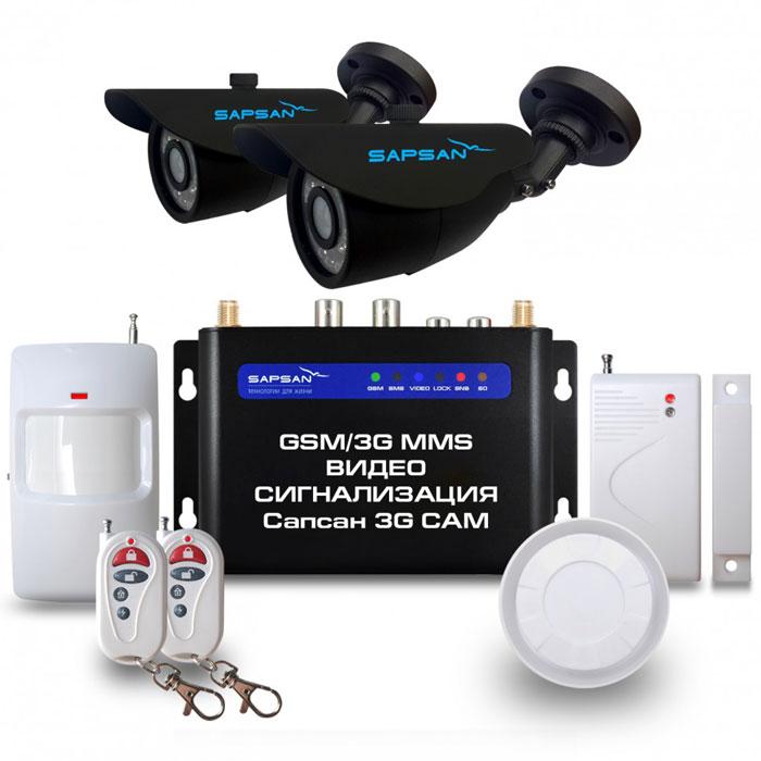 Sapsan 3G CAM Дача GSM-сигнализация (2 камеры)Sapsan 3G CAM ул2к (Дача)Беспроводная система Sapsan MMS 3G-CAM предназначена для дистанционного контроля и охраны недвижимости, путем получения SMS сообщений, MMS сообщений и звонков на заранее записанные номера телефонов абонентов (до 10 номеров). В данной системе есть возможность подключения двух аналоговых камер, кроме того, система также совершает видеозвонок с последующей записью на SD карту. На данный момент это самая инновационная и совершенная система , которая сможет защитит практически любой вид имущества, не только от злоумышленников, но от техногенных случаев. Стальной и прочный корпус делает систему максимально приспособленной к любому техногенному случаю, будь то пожар или человеческий фактор. Система приспособлена работать в суровых условиях, готова к сильным перепадам температур от -40С до +50С, что является большим преимуществом на российском рынке. Выносной морозостойкий и влагозащищенный термодатчик, благодаря которому осуществляется контроль отопления. Датчик...