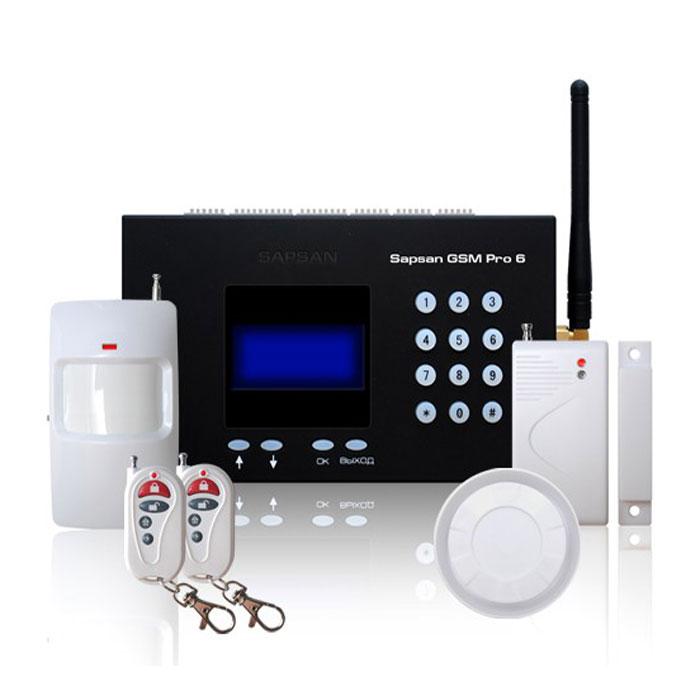 Sapsan GSM Pro 6 Умный дом GSM-сигнализация c датчикамиУмный домБеспроводная система Sapsan GSM PRO 6 предназначена для дистанционного контроля и охраны объектов недвижимости. Система поддерживает подключение неограниченного числа беспроводных датчиков, которые можно разделить по 12 различным группам (зонам охраны). При срабатывании любого датчика из группы рассылается сообщение с номером сработавшей зоны. Сообщения приходят пользователю на русском языке. Текст сообщений возможно изменять. 4 цифровых входа (проводные зоны) позволяют подключать до 40 проводных датчиков (на каждую зону не более 10 датчиков). При этом каждая зона позволяет настроить тип срабатывания датчиков подключаемых к ней НЗ/НО. Срабатывания проводных датчиков передаются на заранее записанные в память устройства номера абонентов (10 номеров) в виде текстовых сообщений. Наличие GSM-модема позволяет своевременно оповестить владельца о неправомерных вторжениях на объект, понижениях температуры, влажности и других...
