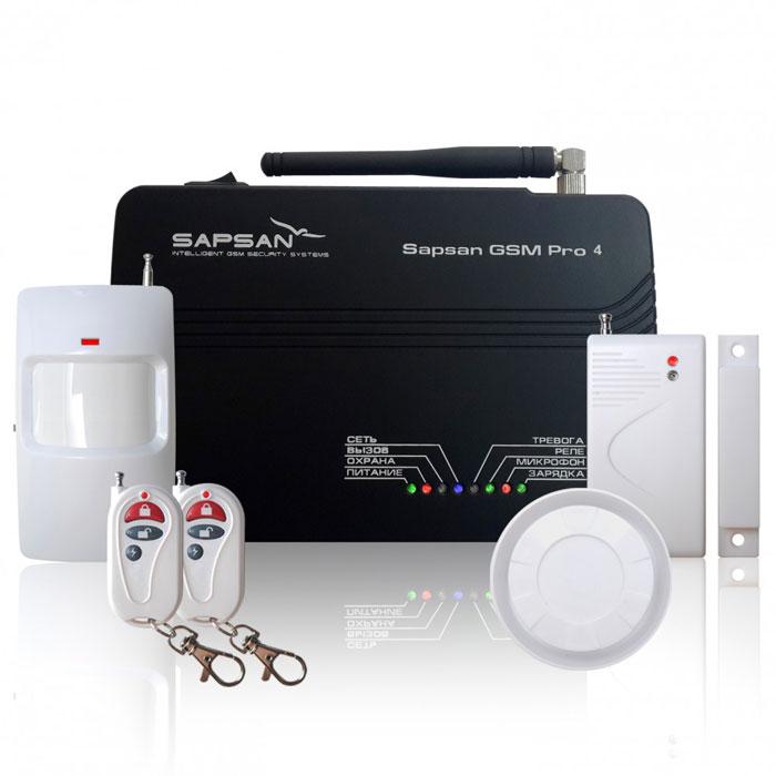 Sapsan GSM Pro 4 Эконом GSM-сигнализацияЭкономС помощью беспроводной системы Sapsan GSM Pro 4 Эконом вы сможете удаленно управлять системой через SMS-команды (постановка объекта на охрану, снятие объекта с охраны) или при помощи телефонного звонка на сим-карту, находящуюся в контрольной панели. Система Sapsan PRO 4 сама подскажет команды, которые Вы можете использовать. При срабатывании датчиков система отправит SMS сообщение на 3 номера и будет дозваниваться на пять указанных Вами номеров. Кроме того, можно дополнительно подключить как проводные так и беспроводные датчики., что даст универсальную возможность делать несколько контуров охраны. Например, дом - беспроводные датчики, улица - проводные датчики. Система позволяет дистанционно управлять 1 электрическим прибором, оснащенным кнопкой «вкл./выкл.». Например: свет, видеорегистраторы, сирены и многое другое, а так же использовать 3 зоны «всегда на охране», которые будут продолжать работать, даже при снятой с охраны системе сигнализации. В эти зоны...