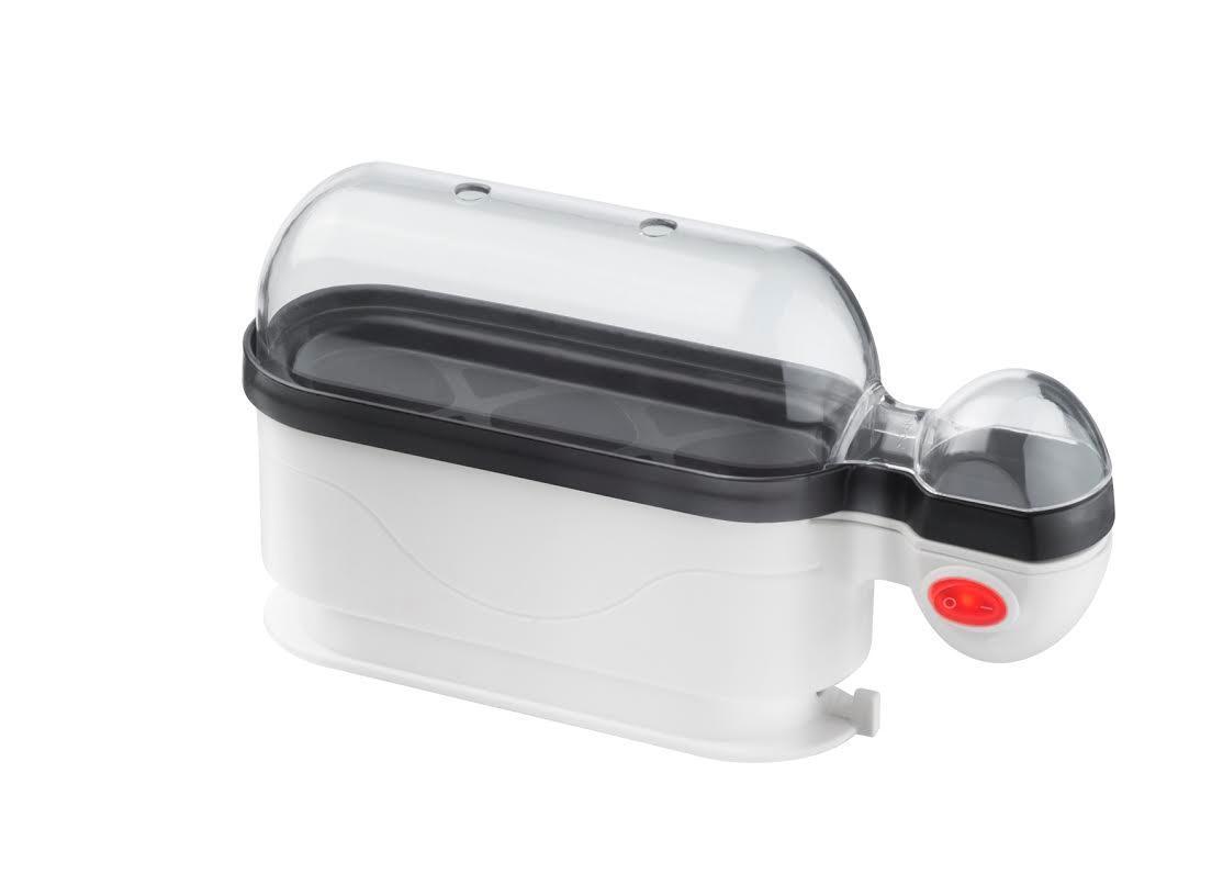 Steba EK 4 яйцеваркаEK 4Яйцеварка STEBA EK 4 - это компактное и удобное в пользовании устройство. Данный помощник позволит в считанные минуты сварить яйца и тем самым облегчит кухонный быт. Модель отличается простым управлением, справиться с которым под силу даже ребенку. Яйца готовятся на пару, а не в воде. Такой способ приготовления положительно сказывается на вкусовых качествах продукта.