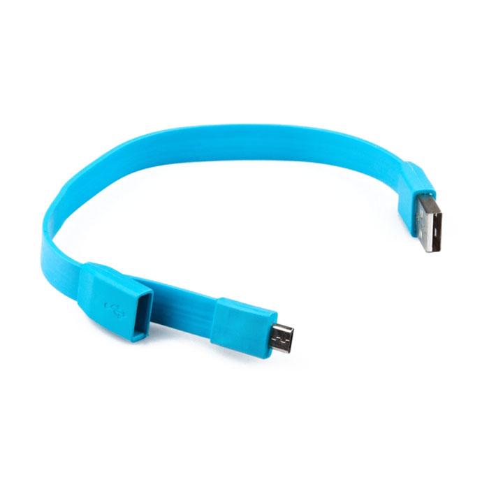 Liberty Project Micro-USB дата-кабель Плоский браслет, Light BlueSM001788Кабель Liberty Project Плоский браслет предназначен для передачи данных с вашего устройства на персональный компьютер, а также зарядки от источников питания с USB выходом.