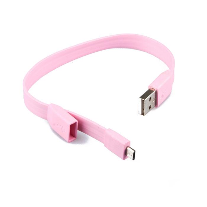 Liberty Project Micro-USB дата-кабель Плоский браслет, PinkSM001785Кабель Liberty Project Плоский браслет предназначен для передачи данных с вашего устройства на персональный компьютер, а также зарядки от источников питания с USB выходом.