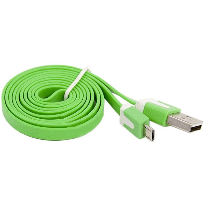 Liberty Project Micro-USB дата-кабель плоский узкий, GreenSM000118Кабель Liberty Project Micro-USB предназначен для передачи данных с вашего устройства на персональный компьютер, а также зарядки от источников питания с USB выходом. Длина кабеля: 1 метр.