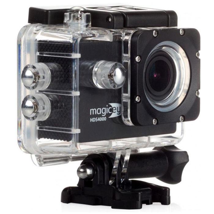 Gmini MagicEye HDS4000, Black экшн-камераАК-10000001Портативная экшн-камера Gmini MagicEye HDS4000. Разрешение видео-файла FullHD 1080p: Видео-файлы могут быть просмотрены практически любым видеоплеером. Имеется режим HDR для лучшей проработки изображения в тенях. Циклическая запись: Установка длительности записываемого фрагмента и перезапись старых файлов при переполнении памяти. Это позволит вам быть уверенным, что все последние события будут сохранены. Звук: Встроенные динамик и микрофон. Позволит вам записать, а затем прослушать звук на видеозаписи. Объектив: Широкоугольный объектив с углом обзора 170 градусов. Позволит записать в память практически всё, что видит пользователь камеры во время съемки. Автостарт: Автоматическое включение/выключение и старт записи при подаче/отключении питания. Позволяет использовать экшн-камеру в качестве видеорегистратора в автомобиле. Wi-Fi: Удаленной управление по WiFi съемкой с...