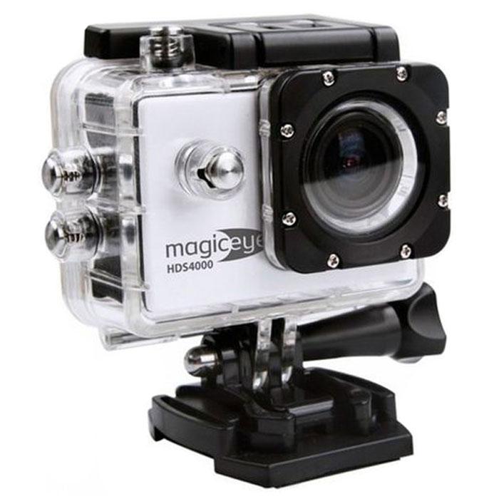 Gmini MagicEye HDS4000, Silver экшн-камераАК-10000002Портативная экшн-камера Gmini MagicEye HDS4000. Разрешение видео-файла FullHD 1080p: Видео-файлы могут быть просмотрены практически любым видеоплеером. Имеется режим HDR для лучшей проработки изображения в тенях. Циклическая запись: Установка длительности записываемого фрагмента и перезапись старых файлов при переполнении памяти. Это позволит вам быть уверенным, что все последние события будут сохранены. Звук: Встроенные динамик и микрофон. Позволит вам записать, а затем прослушать звук на видеозаписи. Объектив: Широкоугольный объектив с углом обзора 170 градусов. Позволит записать в память практически всё, что видит пользователь камеры во время съемки. Автостарт: Автоматическое включение/выключение и старт записи при подаче/отключении питания. Позволяет использовать экшн-камеру в качестве видеорегистратора в автомобиле. Wi-Fi: Удаленной управление по WiFi съемкой с...
