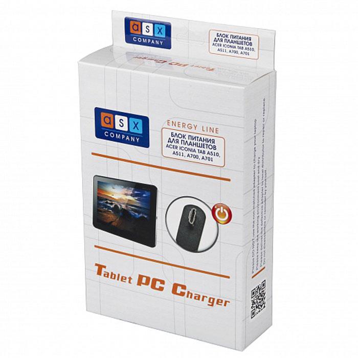 ASX Energy Line автомобильное ЗУ для Acer Iconia Tab A510/A511/A700/A701