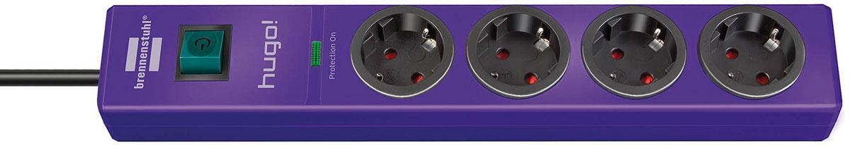 Brennenstuhl Hugo!, Purple сетевой фильтр на 4 розетки с заземлением (2 м)1150610334Сетевой фильтр Brennenstuhl Hugo! эффективно защищает подключенные приборы от повреждений, вызываемых перенапряжением, и избавляет тем самым от дорогостоящего ремонта. Удобное расположение розеток, интересное цветовое исполнение, прекрасные функциональные характеристики - все это вы почувствуете, когда приобретете этот сетевой фильтр. Включатель с подсветкой Розетки с защитой от детей Розетки с заземлением, расположены под углом 45° Оптический индикатор функции защиты от перегрузки Возможность настенного монтажа Тип кабеля: H05VV-F3G1,5