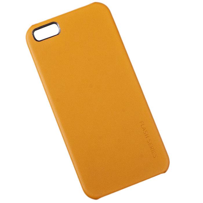 Hoco Flash Series защитная крышка для iPhone 5/5s, GoldR0003214Задняя крышка (кейс) Hoco Flash Series для iPhone 5/5s гарантирует надежную защиту корпуса вашего смартфона от внешнего воздействия (пыль, влага, царапины). Чехол изготовлен из качественного пластика и имеет отверстия для камеры, разъемов и кнопок.