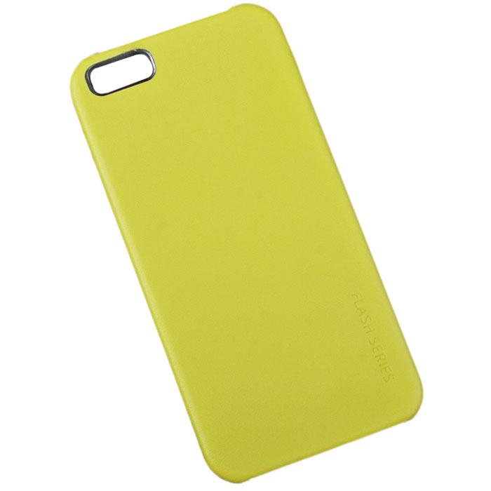 Hoco Flash Series защитная крышка для iPhone 5/5s, GreenR0003219Задняя крышка (кейс) Hoco Flash Series для iPhone 5/5s гарантирует надежную защиту корпуса вашего смартфона от внешнего воздействия (пыль, влага, царапины). Чехол изготовлен из качественного пластика и имеет отверстия для камеры, разъемов и кнопок.