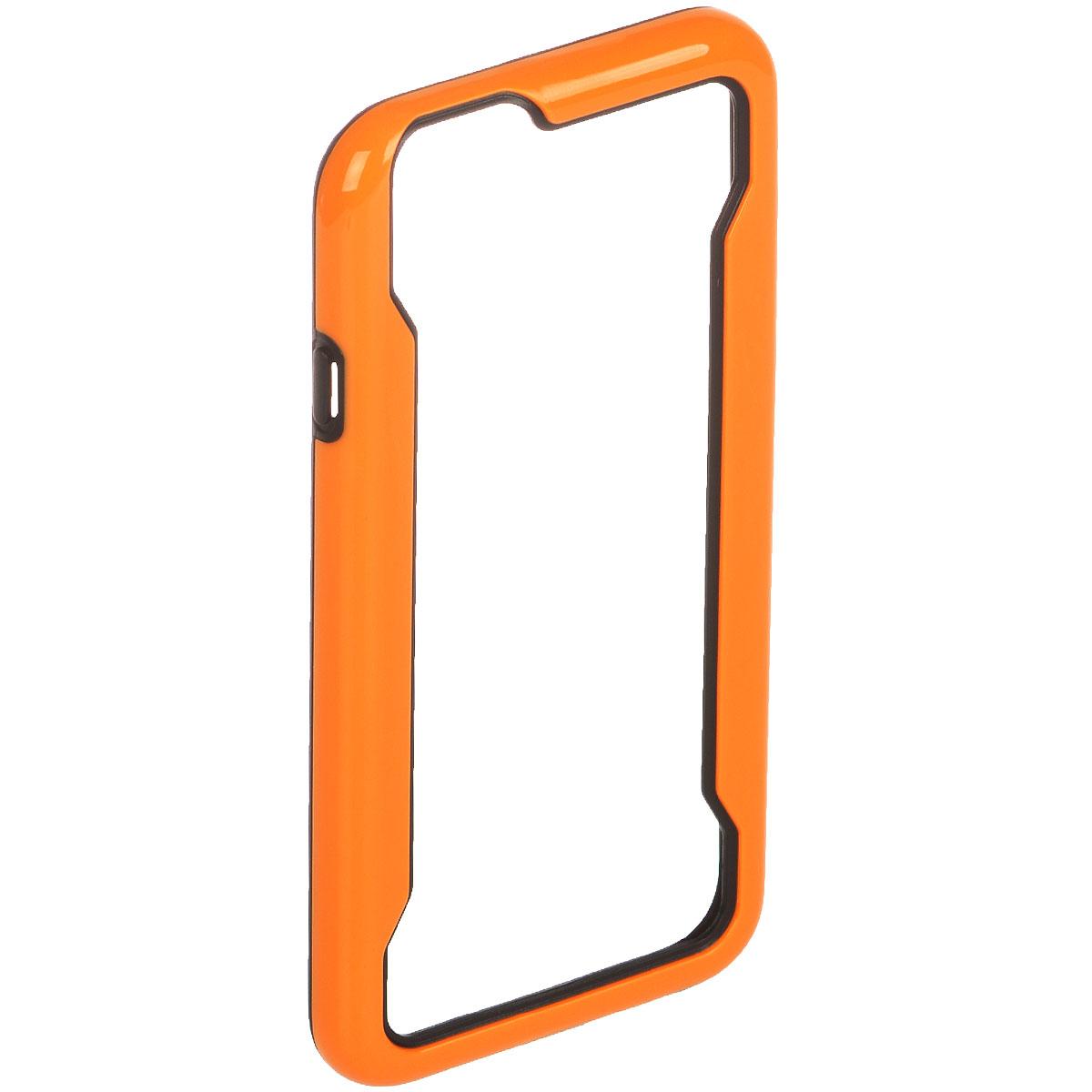 Liberty Project чехол-накладка для iPhone 6, Orange BlackR0007956Защитная крышка Liberty Project служит защиты корпуса вашего смартфона от внешнего воздействия (пыль, влага, царапины). Модель доступна в различных цветах.