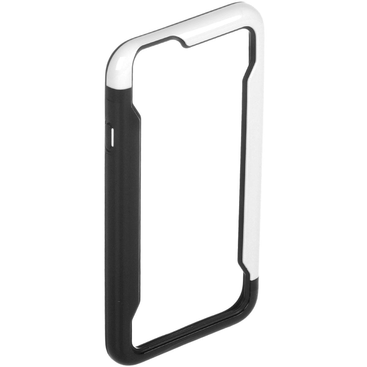 Liberty Project чехол-накладка для iPhone 6, Black WhiteR0007958Защитная крышка Liberty Project служит защиты корпуса вашего смартфона от внешнего воздействия (пыль, влага, царапины). Модель доступна в различных цветах.