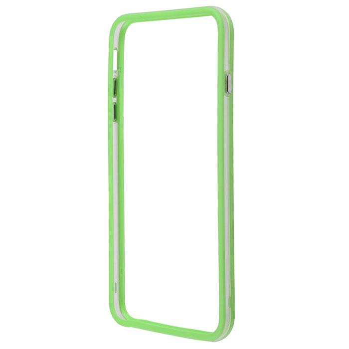 Liberty Project Bumpers чехол-накладка для iPhone 6 Plus, Clear GreenR0006381Чехол-накладка Liberty Project Bumpers для iPhone 6 Plus защитит ваш гаджет от механических повреждений и влаги. Чехол имеет свободный доступ ко всем разъемам и клавишам устройства.