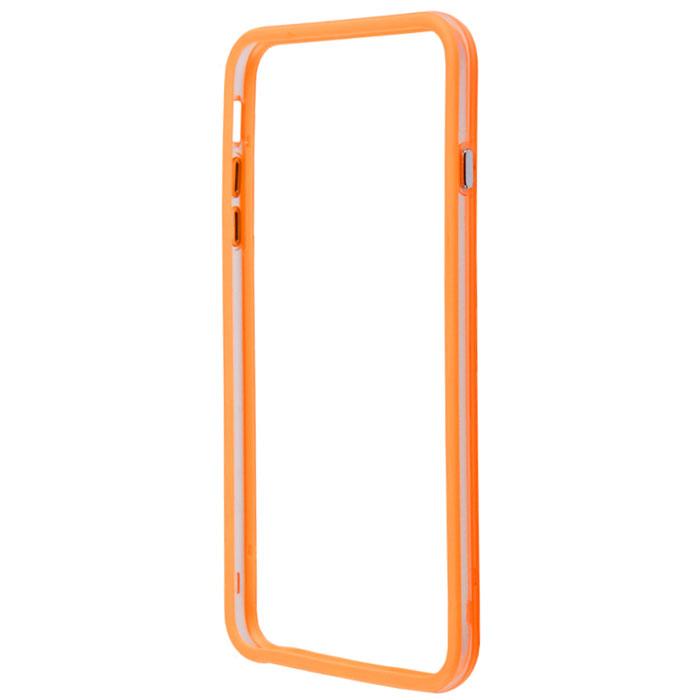 Liberty Project Bumpers чехол-накладка для iPhone 6 Plus, Clear OrangeR0006384Чехол-накладка Liberty Project Bumpers для iPhone 6 Plus защитит ваш гаджет от механических повреждений и влаги. Чехол имеет свободный доступ ко всем разъемам и клавишам устройства.