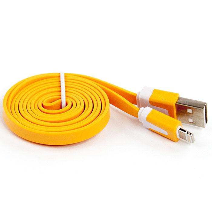 Liberty Project дата-кабель Apple Lightning плоский узкий, Orange (европакет)SM000322Кабель Liberty Project Apple Lightning предназначен для передачи данных с вашего устройства на персональный компьютер, а также зарядки от источников питания с USB выходом.