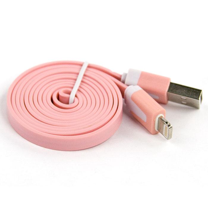 Liberty Project дата-кабель Apple Lightning плоский узкий, Pink (европакет)SM000108Кабель Liberty Project Apple Lightning предназначен для передачи данных с вашего устройства на персональный компьютер, а также зарядки от источников питания с USB выходом.
