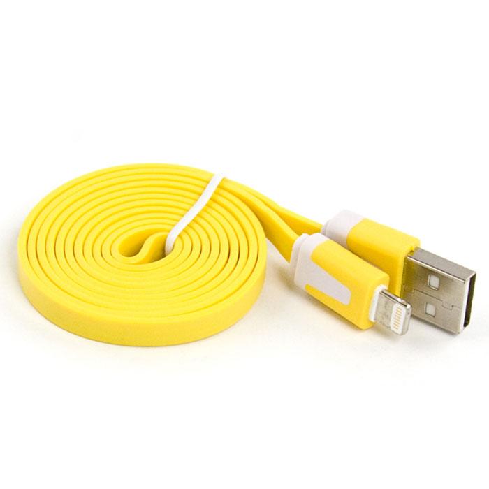 Liberty Project дата-кабель Apple Lightning плоский узкий, Yellow (европакет)SM000111Кабель Liberty Project Apple Lightning предназначен для передачи данных с вашего устройства на персональный компьютер, а также зарядки от источников питания с USB выходом.