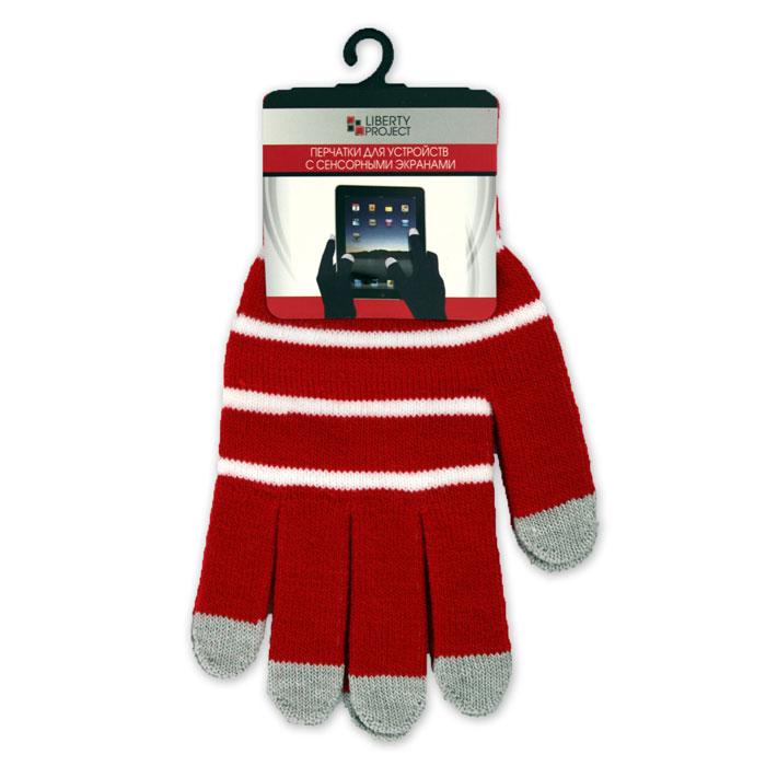 Liberty Project С полосками, Red перчатки для сенсорных экранов, размер S (9003)CD125834Перчатки Liberty Project С полосками предназначены для удобства использования цифровых устройств с сенсорными экранами в сезон холодов и для работы при низких температурах. Все пять пальцев имеют на подушечках перчаток проводящие сенсорные нити, что позволяет пользоваться мобильным устройством, не снимая перчаток.
