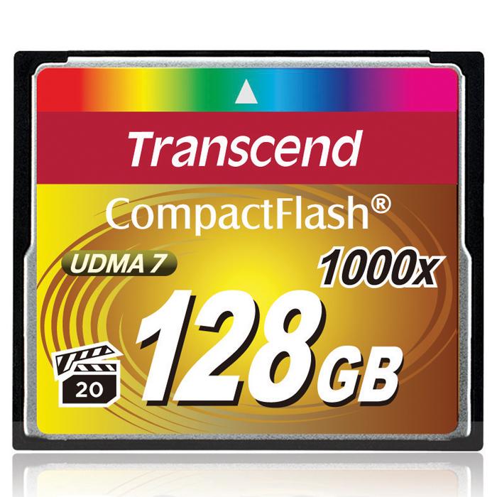 Transcend Compact Flash 1000X 128GBTS128GCF1000Карты памяти 1000x CompactFlash компании Transcend поддерживают спецификацию CompactFlash 6.0, что позволит получать высококачественные снимки и вести запись видео с использованием самого современного оборудования. Новые карты обладают невероятным быстродействием и большим объёмом памяти. Кроме того, CompactFlash поддерживает стандарт Video Performance Guarantee (VPG-20), который гарантирует запись видео в профессиональном качестве, в том числе и в 3D, без выпадения кадров.