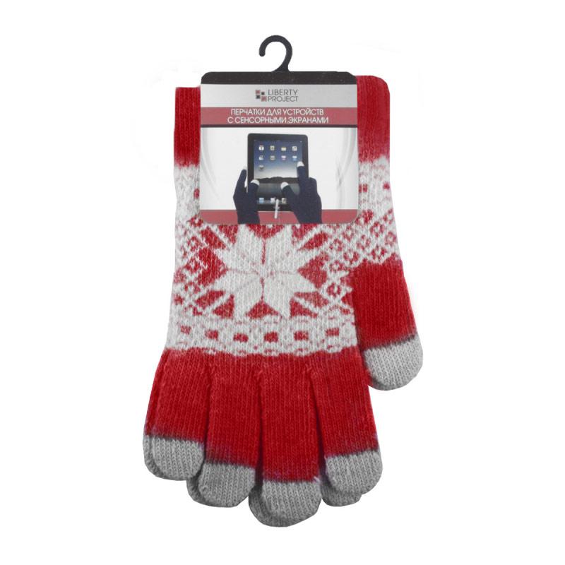 Liberty Project Снежинка, Red перчатки для сенсорных экранов, размер M (1004)0L-00000025Перчатки Liberty Project Снежинка предназначены для удобства использования цифровых устройств с сенсорными экранами в сезон холодов и для работы при низких температурах. Все пять пальцев имеют на подушечках перчаток проводящие сенсорные нити, что позволяет пользоваться мобильным устройством, не снимая перчаток.