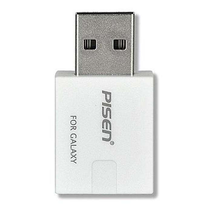 Pisen адаптер для зарядки Samsung TabCD126144USB-адаптер Pisen For Galaxy предназначен для подзарядки планшетов Samsung Galaxy Tab напрямую от USB-разъема вашего ПК.