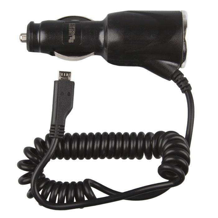 Liberty Project автомобильное ЗУ Micro USB (1 A)CD124300Автомобильное зарядное устройство Liberty Project для смартфонов, планшетных ПК и совместимых устройств.