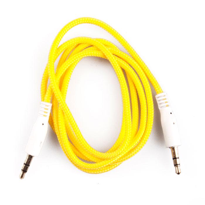 Liberty Project аудиокабель в оплетке, Yellow (1 м)SM001734Кабель в оплетке Liberty Project предназначен для передачи звука между устройствами с разъемами 3.5 мм.