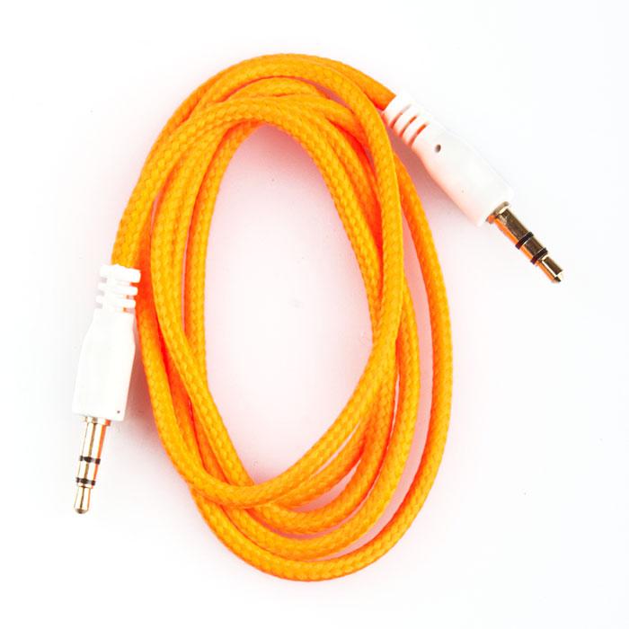 Liberty Project аудиокабель в оплетке, Orange (1 м)SM001729Кабель в оплетке Liberty Project предназначен для передачи звука между устройствами с разъемами 3.5 мм.