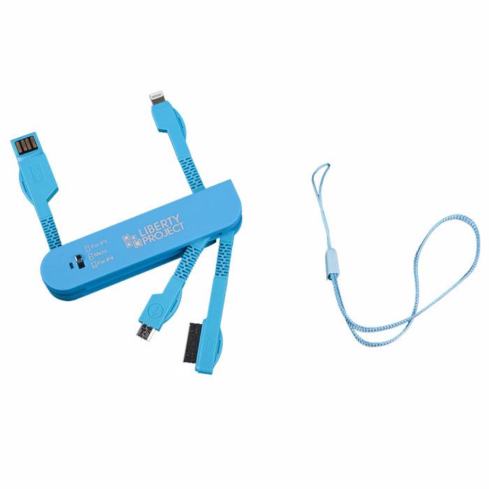 Liberty Project дата-кабель 3 в 1 карманный, BlueR0005041Универсальный кабель Liberty Project предназначен для передачи данных между вашим устройством и персональным компьютером, а также зарядки от источников питания с USB-выходом. Снабжен сразу 4 типами коннекторов.