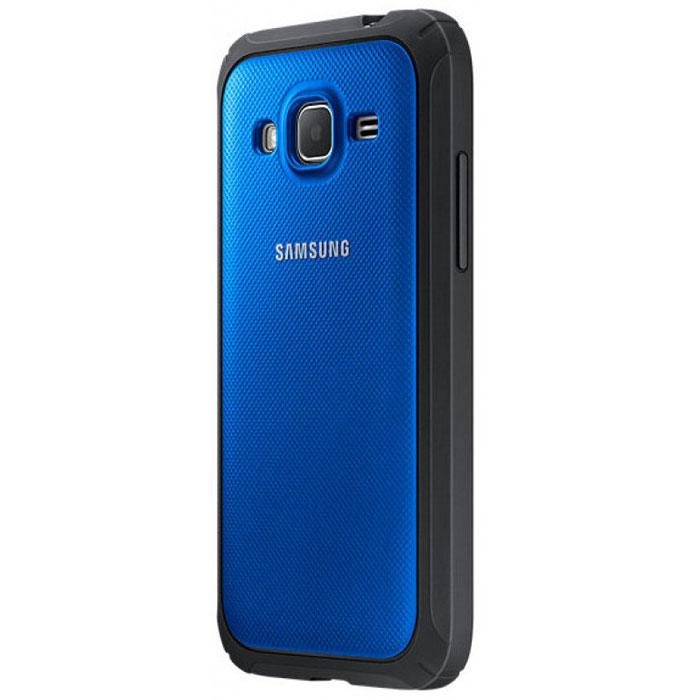 Samsung EF-PG360 Protective Cover чехол для Galaxy Core Prime, BlueEF-PG360BLEGRUSamsung EF-PG360 Protective Cover - крайне полезный аксессуар для Samsung Core Prime. Аккуратная крышка для задней части объединена в одну деталь с бампером. Этим достигается прекрасный уровень защиты для торцов и крышки аккумулятора Galaxy Core Prime. Чехол не сильно увеличивает размеры устройства.